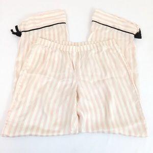 VS Silk Striped Pajama Pants